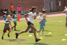 Healthy Kids Day, West Suburban YMCA in Newton, MA.