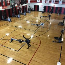 Some cardio machines like ellipticals and rowing machines have been moved to Court B in the gymnasium.