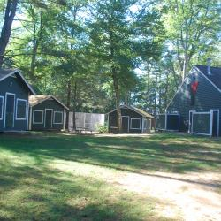 Cabin units with bathhouses at West Suburban YMCA summer camps