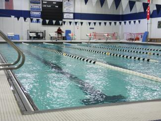 The large pool at the West Suburban YMCA