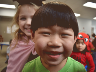Happy preschool kids at the West Suburban YMCA in Newton